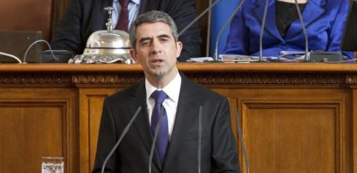Bulgarian President Rosen Plevneliev during his inaugural speech on 19 January 2012 © Office of the Bulgarian President