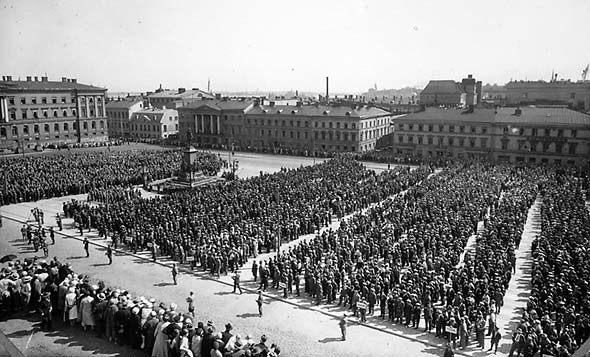 Peasant March in Helsinki, 1932