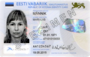 Example of an Estonian electronic ID card - source: e-estonia.com