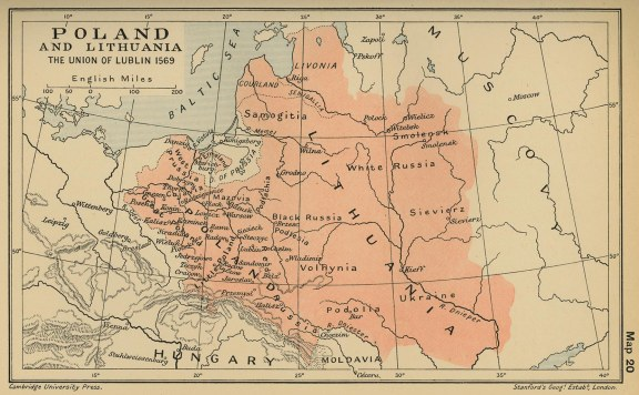 The Polish-Lituanian Commonwealth in 1569 - source: www.nationmaster.com