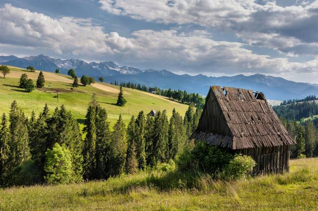 The region of Podhale, Poland's southernmost region characterised by its mountainous landscape, rich folklore, and the EU-protected oscypek cheese.