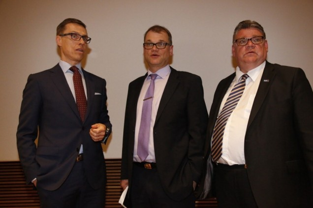 Stubb, Sipilä and Soini form coalition